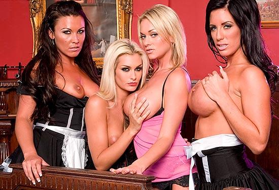 Paige Ashley sex party with Charlie Monaco, Lauren Nicole and Natasha Marley